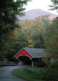 Covered bridge. In New Hampshire, Mount Jefferson in the background Royalty Free Stock Image