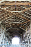 Covered bridge. Photo of the wood on the inside of a covered bridge Royalty Free Stock Photo