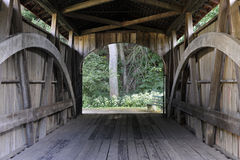 Through a Covered Bridge Stock Image
