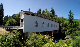 Covered Bridge. A wooden covered bridge around the Cottage Grove Area of Oregon USA America stock photos