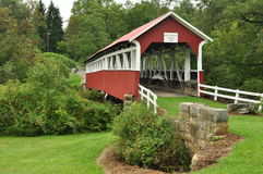Covered Bridge. Barronvale covered bridge in Pittsburgh PA Royalty Free Stock Photos
