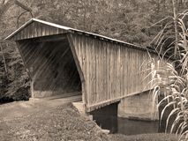 Covered Bridge. Old covered bridge in Virginia Stock Photography
