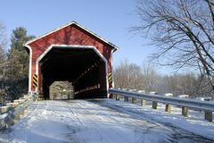 Covered bridge. Near Brigham, Quebec, Canada royalty free stock images