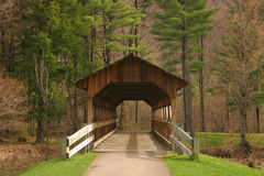 Covered Bridge. Small covered bridge found in NYS Stock Photos