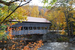 Covered Bridge. Over a river, New Hampshire Royalty Free Stock Images