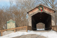 Covered Bridge in Ada Michigan Stock Images