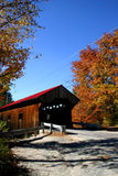 Covered bridge in autumn Stock Image