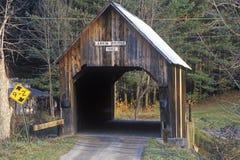 A covered bridge in autumn in Turnbridge, Vermont Stock Image