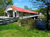 Covered Bridge. Beautiful covered bridge in Eastern New Hampshire Royalty Free Stock Images