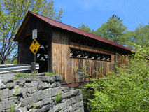 Covered Bridge. A beautiful covered bridge that is in Eastern New Hampshire Royalty Free Stock Images