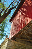 Covered Bridge from Below Stock Photo