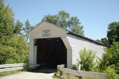 Covered bridge, Bloomfield, Indiana Royalty Free Stock Photo
