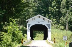 Covered bridge in Bloomfield, Indiana Royalty Free Stock Image