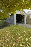 Covered Bridge. S in Northeast Ohio Counties. Early Fall season stock photo