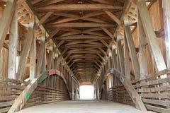 Covered bridge at Bridgeton Mill. Covered bridge in Bridgeton Indiana Royalty Free Stock Photo