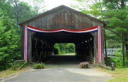 Covered bridge with bunting Royalty Free Stock Images