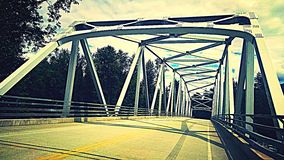 Covered Bridge. Country bridge over the river stock images