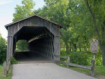 Covered Bridge Entrance Stock Images