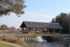 Covered Bridge in the Fall Royalty Free Stock Photos