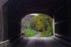 Covered bridge frame Stock Photography