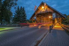 Covered bridge in Frankenmuth Michigan Stock Photos