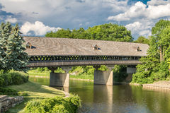 Covered Bridge. In Frankenmuth Michigan, over the Cass River.  Located near Bavarian Inn Royalty Free Stock Photo