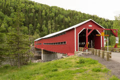 Covered Bridge. This covered bridge is on the Gaspe Peninsula, Quebec, Canada Stock Photos