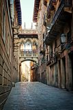 Covered bridge in the Gothic Quarter, Barcelona, Spain Stock Photography