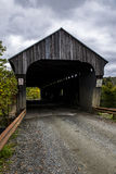 Covered Bridge and Gravel Road - Autumn / Fall - Vermont Royalty Free Stock Photography