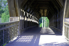 Covered Bridge, Guelph, Ontario, Canada Royalty Free Stock Photo