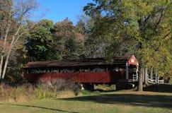 Covered Bridge. Hidden Treasures - The Red Covered Bridge Royalty Free Stock Photos