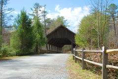 The Covered Bridge at High Falls royalty free stock photo