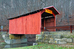 Covered Bridge at Hundred Royalty Free Stock Image