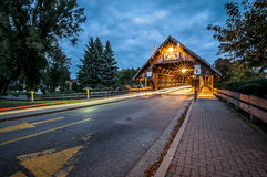 Covered Bridge In Frankenmuth Michigan Stock Images