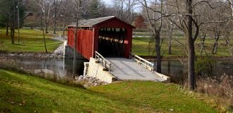 Covered bridge in Indiana Royalty Free Stock Photography