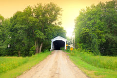 Covered Bridge in Indiana Royalty Free Stock Image