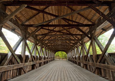 Covered bridge interior Stock Photos