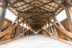 Covered Bridge Interior. Historic wooden Covered Bridge Interior, USA stock photos