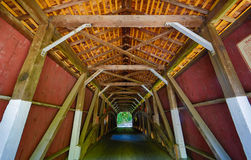 Covered bridge interior stock photos