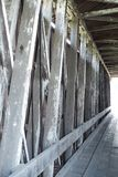 Covered bridge internal timber construction royalty free stock images