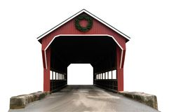 Covered bridge isolated. A isolated picture of a covered bridge on white background Stock Images