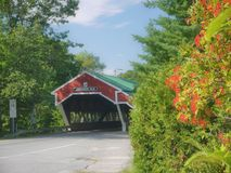 Covered Bridge in Jackson, NH. Jackson is near the Eastern end of the Kancamaugus Highway in New Hampshire stock images