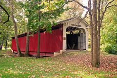 Covered Bridge Late Summer 160 Stock Image