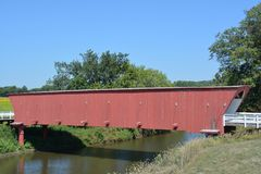 Covered Bridge-Madison County Iowa Stock Photo