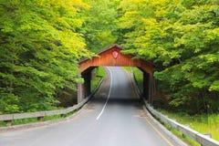 Covered bridge,Michigan Stock Photo