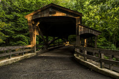Covered Bridge - Mill Creek Park, Youngstown, Ohio. A view of a covered bridge in Mill Creek Park in Youngstown, Ohio stock photography