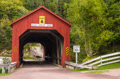 Covered Bridge in New Brunswick Stock Photography