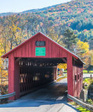 Covered bridge in New England Stock Image