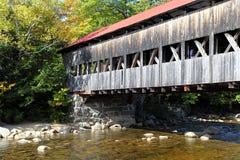 Covered Bridge, New England Stock Photo