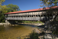 Covered bridge. North Conway New Hampshire over the Saco River Stock Photos